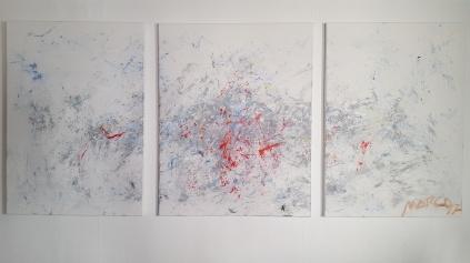 Tríptico, acrílico sobre lienzo, 2017