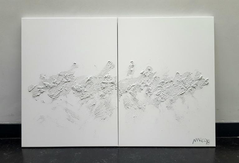 Acrílico y resina sobre 2 lienzos, 2018