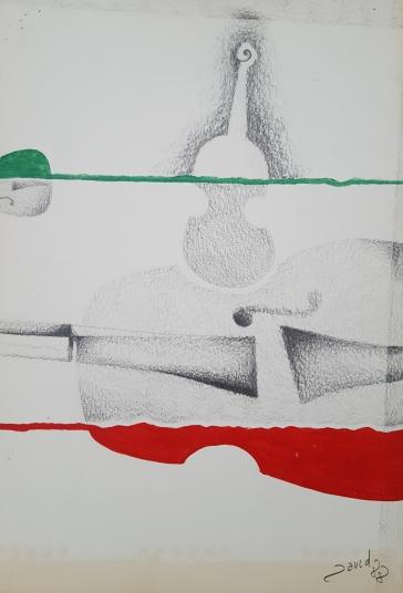 lápiz y témpera sobre papel, 1988