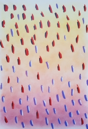 polvo de colores y témpera sobre papel, 1986