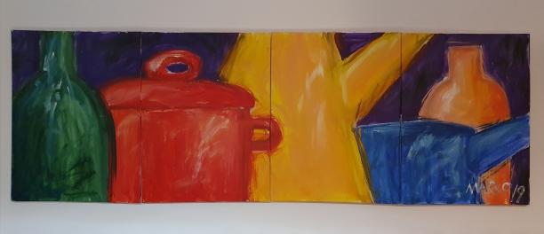 mural, acrílico sobre lienzos, 2,40 m.